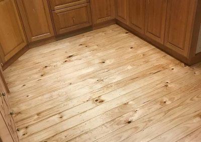 Radiata pine floor poly gloss finish