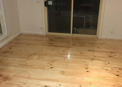 Radiata pine floor poly gloss finish geelong