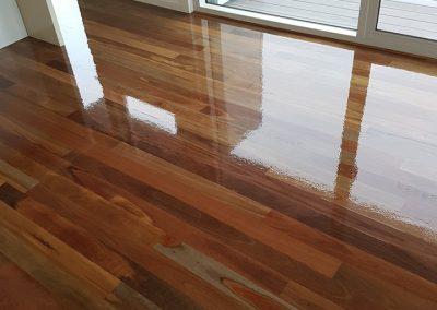 matt or gloss finish timber floor polishing