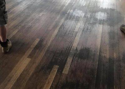 old rustic floor restoration A