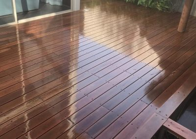 polished outdoor timber deck