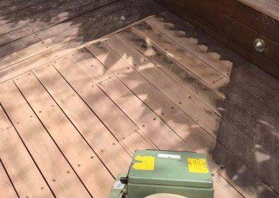 sanding spotted gum deck geelong