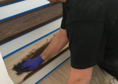 timber stair polishing geelong