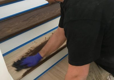 timber stair polishing geelong